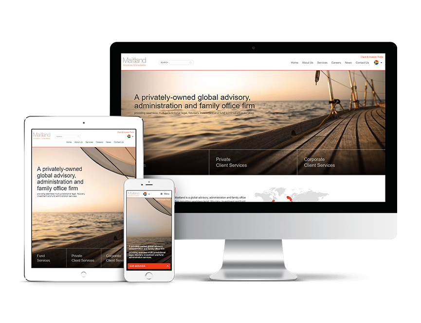 Maitland Group Responsive feature